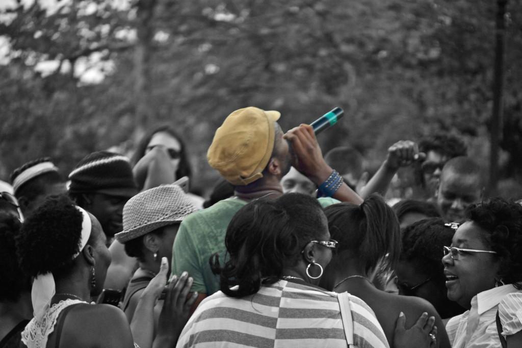 leon in crowd@Peoples fest