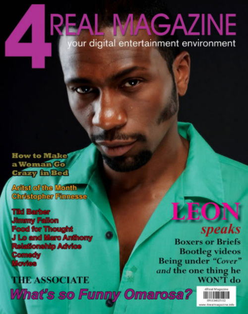 Leon on the front of 4 Real Magazine